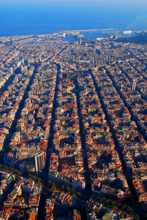 Eixample district of Barcelona